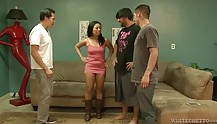Lustful MILF gets gang-banged